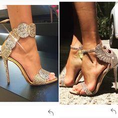 Bling Bling!! Italian bling from @oscartiye designed by the very talented @aminamuaddi  #oscartiye #aminamuaddi #brandlovers_diaries #fashionblogger #fashioninstagramers #brandalert #brandblog #brandsnob #bling #goldsandals #prettyfeet #highheels #shoeporn #shoegame #passionforfashion #shoeplay #flirty #naughty #allthingspretty  #partywear #weddingshoes #sexy #labellust #instaglam #fashiondiaries #sandals #italiandesign #instaglamourous #shoelovers #shinydiscoshoes