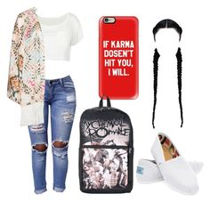 """""""Untitled #209"""" by pjprincess14 on Polyvore featuring Mat, TOMS and Casetify"""