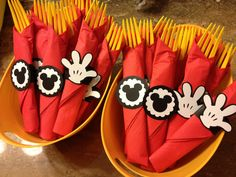 Mickey Mouse napkin rings