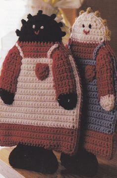 Crochet Pattern ~ COUNTRY FOLK POTHOLDERS ~ Instructions