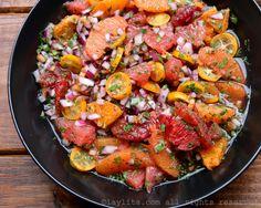 Salsa picante de naranja y frutas cítricas con habanero