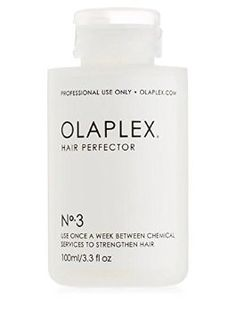 Olaplex No. 3!   This is the take home version! This product is seriously a miracle! It multiplies the bonds in your hair that coloring and heat styling damages. We use Olaplex during our color services and even as treatments to strengthen and prevent breakage. Does not contain silicone or oils! Use this once a week to replenish moisture and strengthen hair.