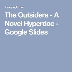 The Outsiders - A Novel Hyperdoc - Google Slides