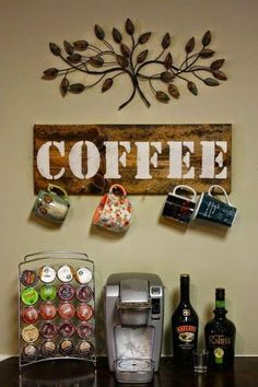Simple But Creative DIY College Apartment Decoration Ideas On A Budget 11 Coffee Cup Holder, Coffee Cups, Coffee Coffee, Coffee Time, Apartment Decoration, Casa Clean, Diy Casa, Cafe Bar, Home Projects
