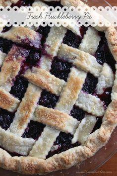 Fresh Huckleberry Pie as a dessert option! Huckleberry Recipes, Huckleberry Pie, Just Desserts, Delicious Desserts, Yummy Food, Healthy Food, Pie Recipes, Dessert Recipes, Recipes
