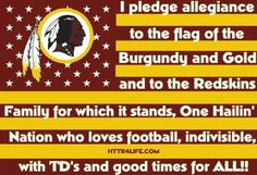 This is so awesome I'm going to say this before each Redskins game 💯🏈😜😍😉 Indianapolis Colts, Cincinnati Reds, Pittsburgh Steelers, Dallas Cowboys, Redskins Logo, Redskins Football, Football Team, Funny Football, Football Field