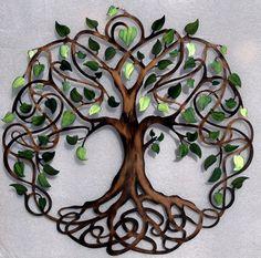 Green Pearl Leaf Love Lock Ceremony Tree by HumdingerDesignsEtsy