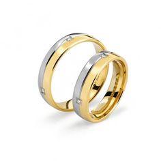 Paolo & Francesca | Coppia di #fedi in oro e diamanti | Comete gioielli  #fedi #oro #diamanti #matrimonio