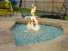 Outdoor Fire Pit Kits With Black Iron Chair