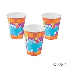 These paper cups are dino-mighty! Strong, durable and perfect for serving drinks to little guests, they're just the right size for punch and are dinosaur ...