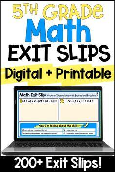 Upper Elementary Resources, Math Resources, Math Activities, Elementary Art, Math Quizzes, Teaching Math, Maths, Math Assessment, Fifth Grade Math
