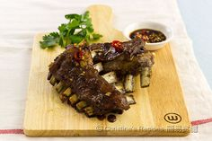 Baked Lamb Ribs, Christine Ho.  Using Australian lamb, yum yum.