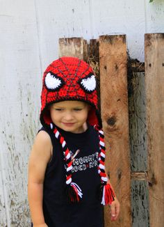 Crochet Spiderman hat. $26.00, via Etsy.