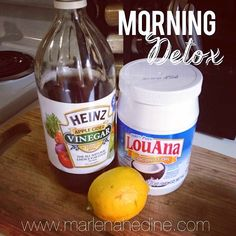 Everyday!! Morning Detox Drink Warm water spoon full of coconut oil.  Add 2 Tbsp of Lemon Juice  Add 2 Tbsp of Apple Cider Vinegar  Optional: a little honey  or cayenne pepper  For an extra metabolism boost.
