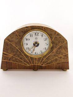 Leon Hatot ATO table desk clock, art deco, 1930´s