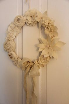 Love this beige felt wreath very inexpensive