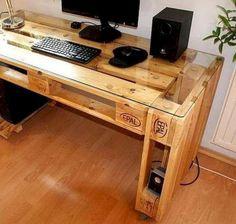 55 Fantastic DIY Computer Desk Design Ideas and Decor (26) Amazing diy computer desk design inspiration. #diycomputerdeskdesignideas