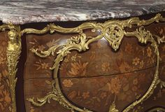 Fine Louis XV Style Marquetry Commode by Joseph-Emmanuel Zwiener   From a unique collection of antique and modern commodes and chests of drawers at https://www.1stdibs.com/furniture/storage-case-pieces/commodes-chests-of-drawers/