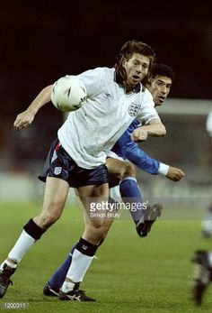 Chris Waddle of England in action during a Friendly match against Brazil at Wembley Stadium in London England won the match 10 Mandatory Credit Simon. Chris Waddle, England National, National Football Teams, Wembley Stadium, London England, Lions, Soccer, Running, Brazil
