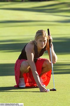 I love to golf with my friends. My golf clubs are pink and I wear only dresses on the golf course. Too much fun!