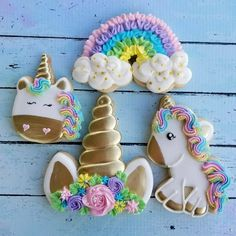 Magical Unicorn Birthday Party Iced Sugar Cookies by The Sugar Lion featured on TheIcedSugarCookie.com #cookies #sugarcookies #decoratedcookies #unicorncookies #unicornparty