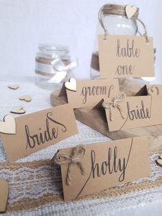 Wedding Table, Wedding Ideas, Wedding Name Cards, Modern Calligraphy, Wedding Stationery, Place Cards, Wedding Decorations, Groom, Place Card Holders