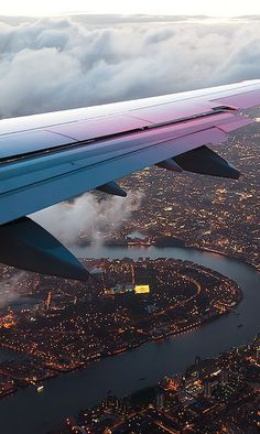 Airplane City View