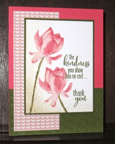 Snapdragon Stamps, Lotus Blossom, Stampin' up!