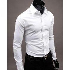 LANMWORN Men/'s Long Sleeve British Casual Black White Block Blouse Suit Shirts Button Down Business Formal Dress Shirt