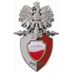 Fridge magnet - Polish Eagle, sitting on the shield. Warsaw Old Town, Warsaw Ghetto, Kids Magnets, Coat Of Arms, Eagles, Herb, Poland, Chelsea, Metal