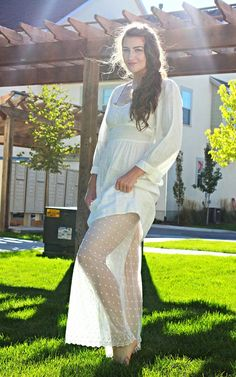 Vintage Off White Linen Long Sleeves Dress by LuoLuv on Etsy