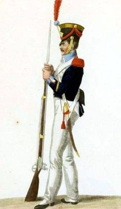 Grenadier of the National Guard in parade uniform. Poland History, Napoleonic Wars, National Guard, Army, Military, The Unit, Warsaw, Soldiers, Fig