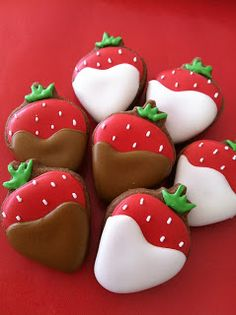 Strawberry cookies. They look yummy. Please check out my website thanks. www.photopix.co.nz