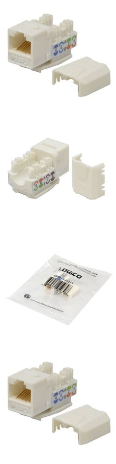 White CAT5e RJ45 110 Punch Down Keystone Modular Snap-In Jacks 25 Pack Lot