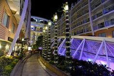 Central Park neighborhood after dark on Royal Caribbean's Allure of the Seas.