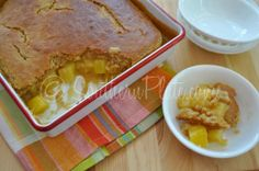 Pineapple Pudding     //     You will like this, in some ways it is even better than pineapple upside down cake.