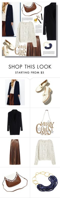 """Dark Blue Christmas Outfit"" by nadia-gadelmawla ❤ liked on Polyvore featuring Mauro Grifoni, M&Co, A.L.C., Patchington, Catherine Canino Jewelry and Maryam Keyhani"