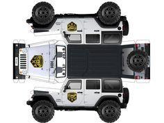 papercraft jeep Plus