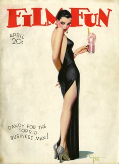 Her milkshake brings all the boys to the yard. Film Fun cover by Enoch Bolles, 1930s