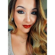 Another gorgeous look by Amanda ensing neutral eyes and nars audacious red lip