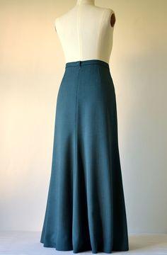 13ecbf45279 Dlouhá sukně petrolejová   Zboží prodejce M Elegance
