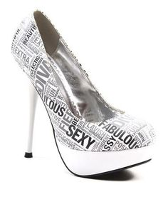 #Take a look at this White Lucky Woman Pump by Luichiny on #zulily today!