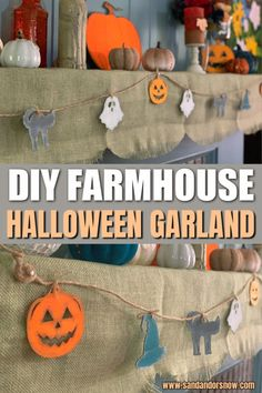Want a super easy tutorial for DIY Halloween farmhouse garland? From items to tips, here's how to make an affordable style that looks great on a mantle or anywhere! #Halloween #HalloweenGarland #HalloweenDIY #Farmhouse #FarmhouseDIY Farmhouse Halloween, Halloween Diy, Diy Halloween Garland, Halloween This Year, Halloween Ornaments, Disney Halloween, Halloween Treats, Halloween Decorations, Mantle Garland