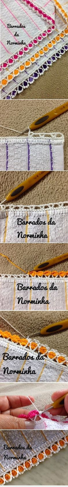 A multicoloured cotton thread trim for teacloths