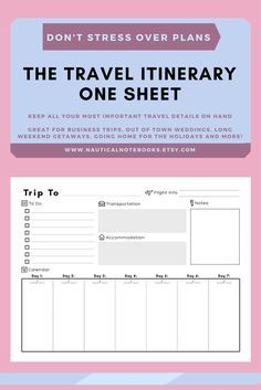Free travel itinerary templates for travel flight vacations travel itinerary template family travel planner printable itinerary vacation itinerary for business trips weddings family vacation thecheapjerseys Image collections