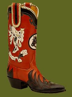Custom made boots at Rocketbuster - swoon!