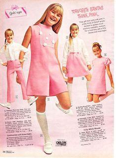"""05e748bb2fb8d fashion-of-the-60s  """"Prendas de vestir para niñas dentro del catálogo  americano Sears"""