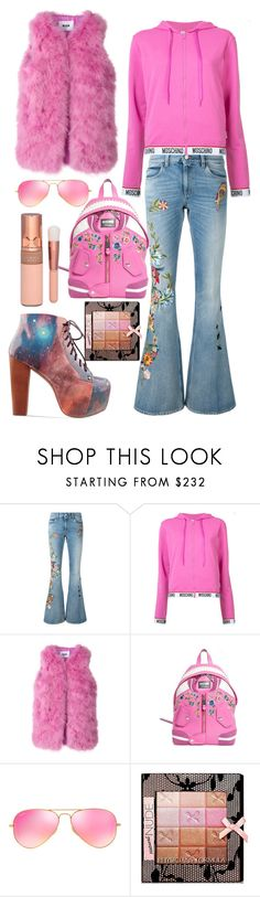 """""""Outfit #678"""" by sofi6277 ❤ liked on Polyvore featuring Gucci, Moschino, MSGM, Ray-Ban and Physicians Formula"""