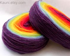 rainbow wool roving