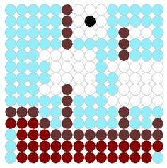 perler bead pirate patterns | Pirate Ship Perler Bead Pattern